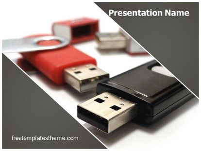 free flash drive powerpoint template | freetemplatestheme, Presentation templates