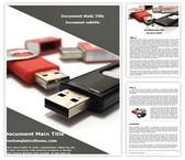 Free Flash Drive Word Template Background, FreeTemplatesTheme