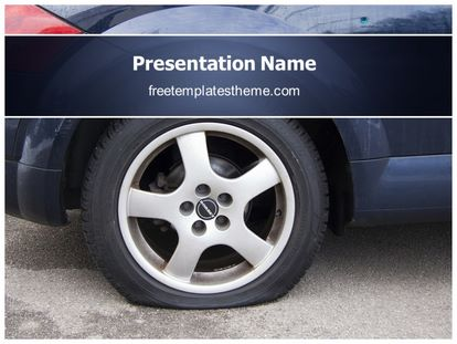 Free flat tire powerpoint template freetemplatestheme slide1g toneelgroepblik Image collections
