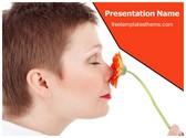Free Flower Aroma PowerPoint Template Background, FreeTemplatesTheme
