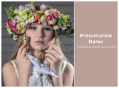 Free Flowers Crown PowerPoint Template Background, FreeTemplatesTheme