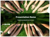 Free Friends Team PowerPoint Template Background, FreeTemplatesTheme