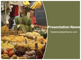 Free Fruit Market PowerPoint Template Background, FreeTemplatesTheme