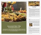 Free Fruit Market Word Template Background, FreeTemplatesTheme
