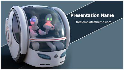 Future Vehicle Free Powerpoint Template Design Widescreen, FreeTemplatesTheme