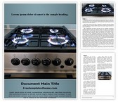 Free Gas Cooker Word Template Background, FreeTemplatesTheme