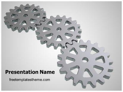 Free gears powerpoint template freetemplatestheme slide1g toneelgroepblik Images
