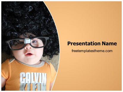 Geek Child Free Powerpoint Template, freetemplatestheme.com