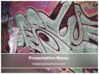 Free ghetto abstract powerpoint template freetemplatestheme slide1g toneelgroepblik Image collections