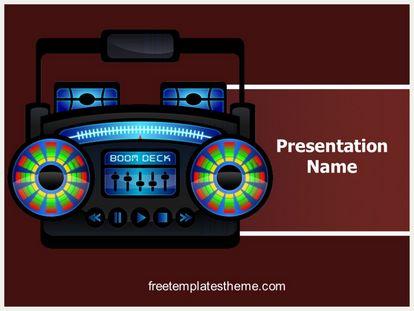Free ghetto radio powerpoint template freetemplatestheme slide1g toneelgroepblik Gallery