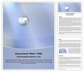 Free Global Communication Word Template Background, FreeTemplatesTheme