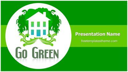 Go Green Free Powerpoint Template Widescreen, FreeTemplatesTheme