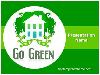 Go Green Free Powerpoint Template, freetemplatestheme.com