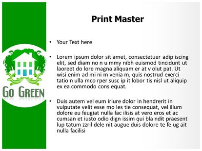 Go Green Free Powerpoint Template, PPT Slide3