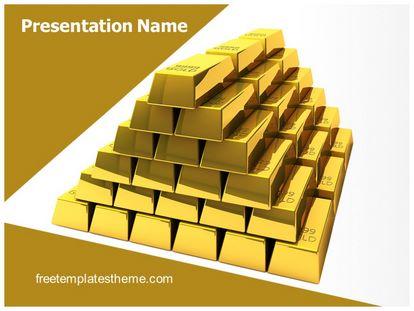 Free gold bars powerpoint template freetemplatestheme slide1g toneelgroepblik Image collections