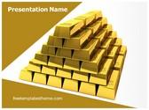 Free Gold Bars PowerPoint Template Background, FreeTemplatesTheme