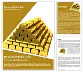 Free Gold Bars Word Template Background, FreeTemplatesTheme