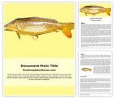 Free Goldfish Word Template Background, FreeTemplatesTheme