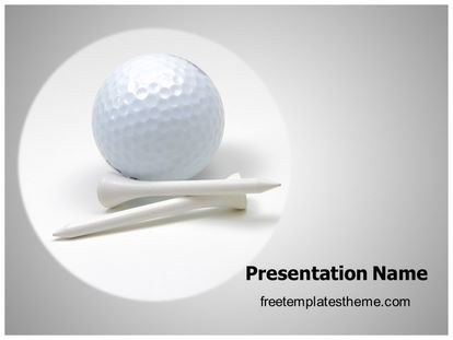 Free golf ball powerpoint template freetemplatestheme slide1g toneelgroepblik Image collections