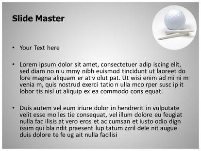 Free golf ball powerpoint template freetemplatestheme slide1g slide2g toneelgroepblik Image collections