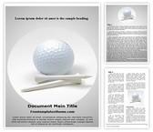 Free Golf Ball Word Template Background, FreeTemplatesTheme
