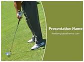 Free Golf Swing PowerPoint Template Background, FreeTemplatesTheme