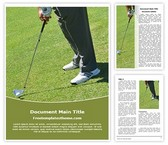 Free Golf Swing Word Template Background, FreeTemplatesTheme