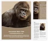Free Gorilla Word Template Background, FreeTemplatesTheme