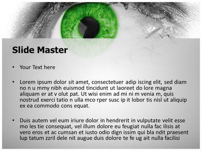 Free green eye powerpoint template freetemplatestheme slide1g slide2g toneelgroepblik Gallery