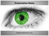 Free Green Eye PowerPoint Template Background, FreeTemplatesTheme