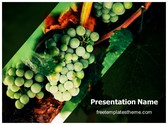 Free Green Grapes PowerPoint Template Background, FreeTemplatesTheme