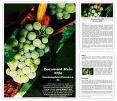Free Green Grapes Word Template Background, FreeTemplatesTheme