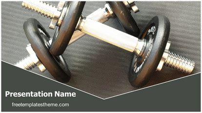 free gym dumbbells powerpoint template | freetemplatestheme, Modern powerpoint