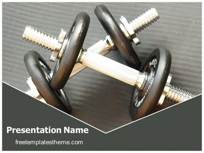 Free gym dumbbells powerpoint template freetemplatestheme slide1g toneelgroepblik Choice Image