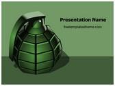 Free Hand Grenade PowerPoint Template Background, FreeTemplatesTheme