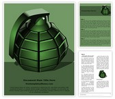 Free Hand Grenade Word Template Background, FreeTemplatesTheme