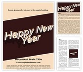 Free Happy New Year Word Template Background, FreeTemplatesTheme