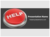 Free Help Button PowerPoint Template Background, FreeTemplatesTheme