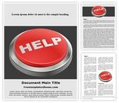 Free Help Button Word Template Background, FreeTemplatesTheme