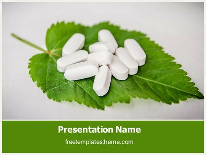 free herbal pills powerpoint template. Black Bedroom Furniture Sets. Home Design Ideas