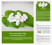 Free Herbal Pills Word Template Background, FreeTemplatesTheme