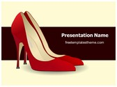 Free High Heel Shoes PowerPoint Template Background, FreeTemplatesTheme
