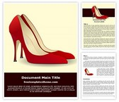 Free High Heel Shoes Word Template Background, FreeTemplatesTheme