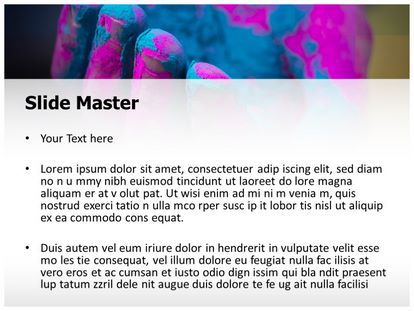 Holi Colorful Hand Free PPT Template, PPT Slide2