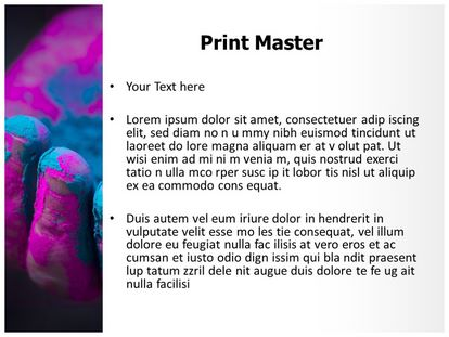 Holi Colorful Hand Free PPT Template, PPT Slide3