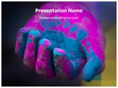 Free Holi Colorful Hand PowerPoint Template Background, FreeTemplatesTheme