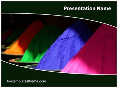 Holi Colors Free PPT Background Template, freetemplatestheme.com