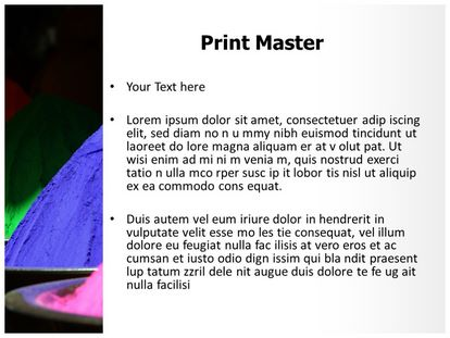 Holi Colors Free PPT Background Template, PPT Slide3