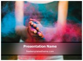 Free Holi Festival PowerPoint Template Background, FreeTemplatesTheme