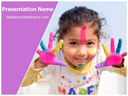 Holi Fun Free PPT Template Theme, freetemplatestheme.com